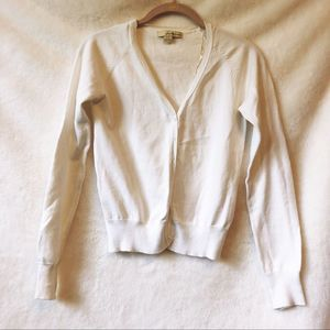 Forever 21 White Button Up Cardigan